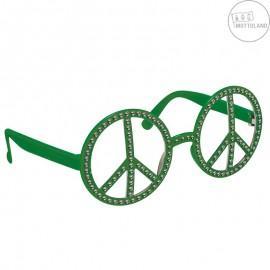 Brýle Hippie s kamínky zelené x