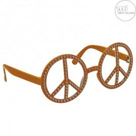 Brýle Hippie s kamínky oranžové x