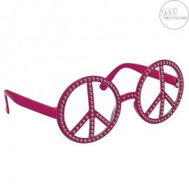 Brýle Hippie s kamínky růžové x