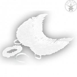 Křídla anděl péřová se svatozáří 53 x 60 cm