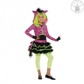 Neon Pink Zebra Hoody - kostým D