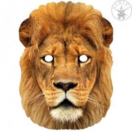 Lev - kartonová maska pro dospělé