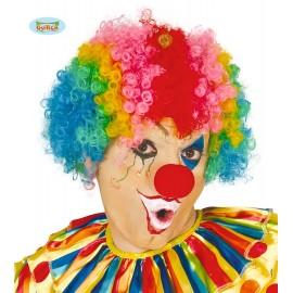 Paruka dospělácká multicolor - klaun D