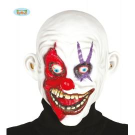 Latexová maska KLAUN bílá