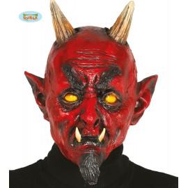 Latexová maska démon s rohy