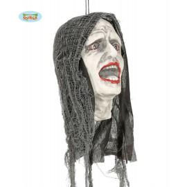 Zombie hlava se světelným efektem