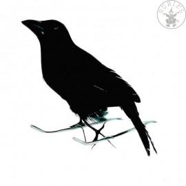 Vrána černá 15cm Halloween