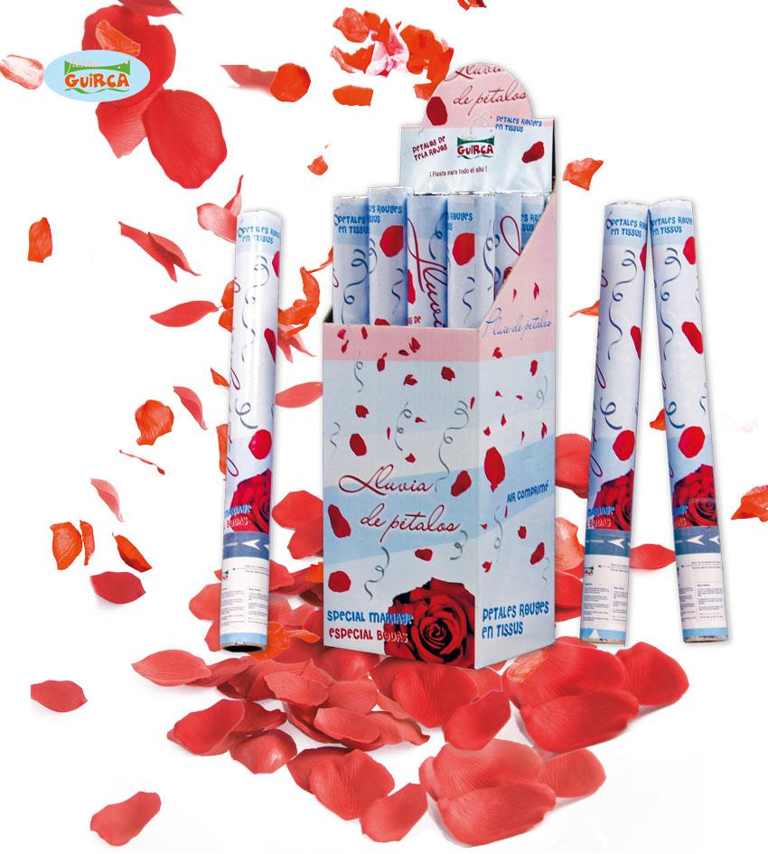 Vystřelovací konfety červené 50 cm 6925