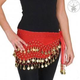 Šátek s mincemi červený Dámské kostýmy