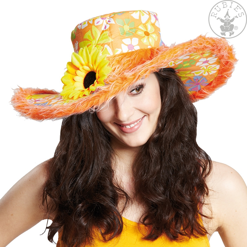 Hippie klobouk dámský oranžový