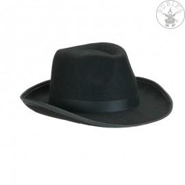 Pánský černý klobouk Pánské