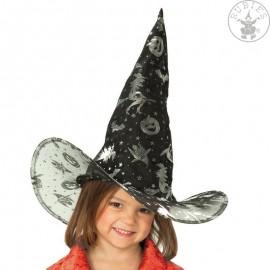 Dětský čarodějnický klobouk černý Čarodějnice