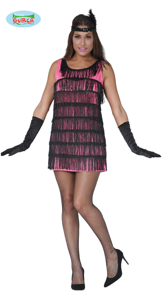 Charlestonové šaty pink vel. 42 - 44
