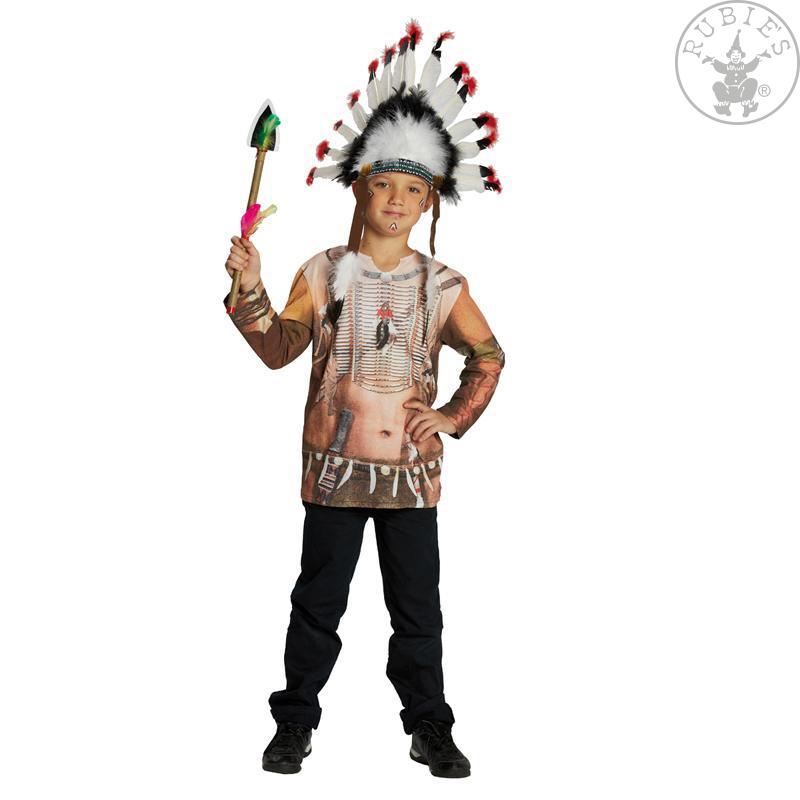 Tričko s potiskem indián