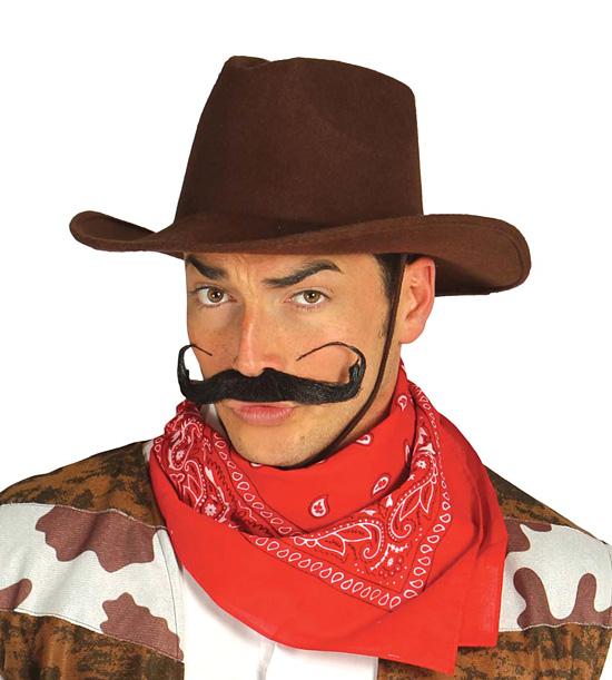 Kovbojský klobouk hnědý D