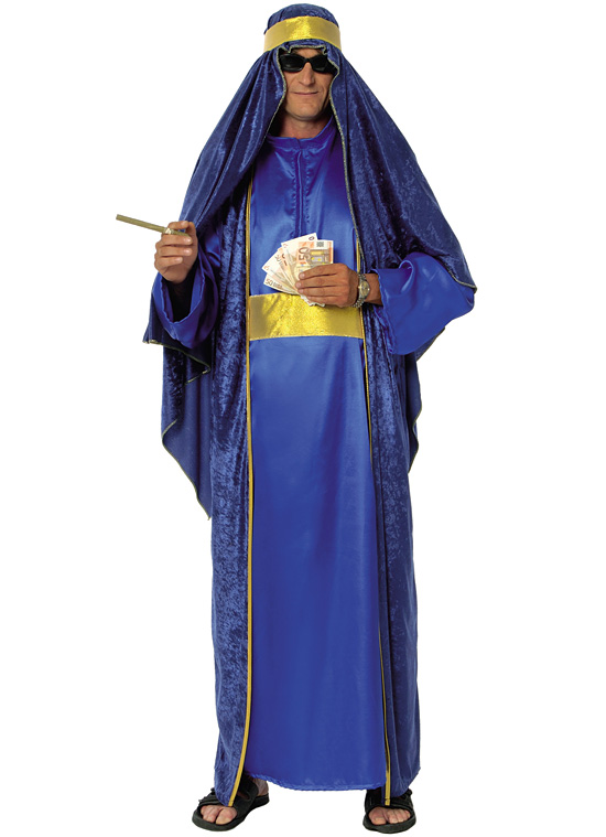 ARAB - modrozlatý kostým