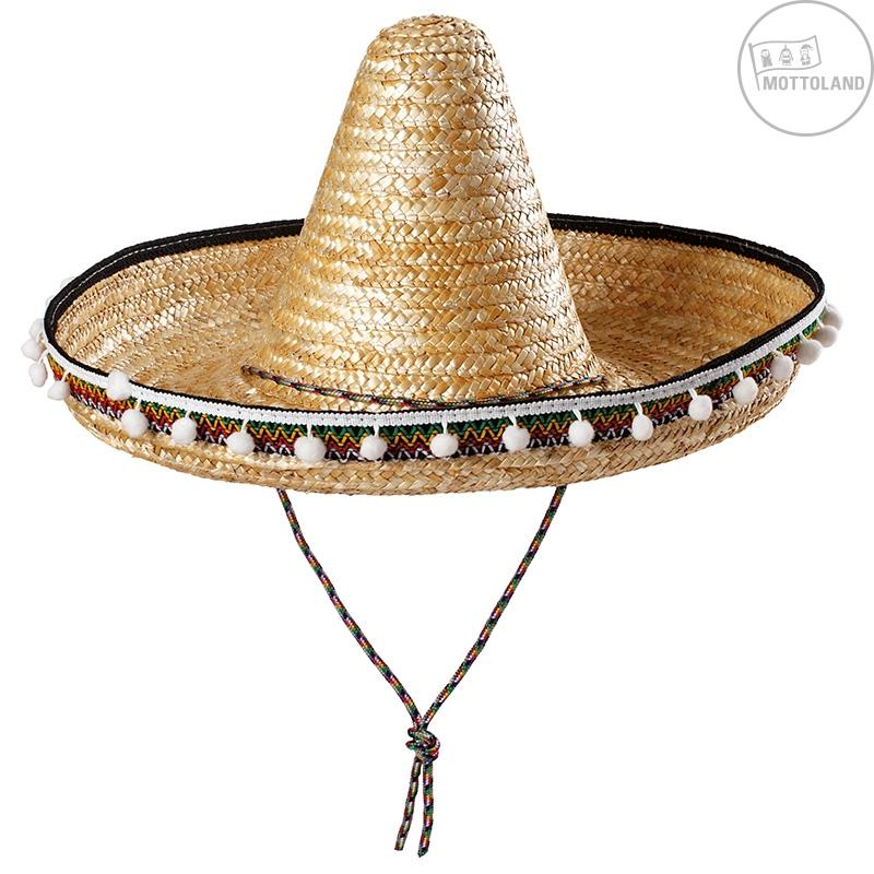 Mexický klobouk s pompony