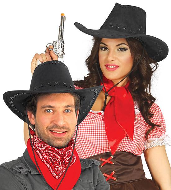 Kovbojský klobouk černý