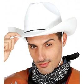 Kovbojský klobouk bílý vel. 57 - 58 Indiáni, -ky, kovbojové