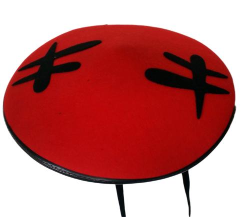 Čínský dětský klobouk červený