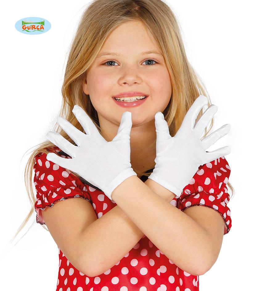 Dětské rukavice bílé